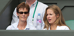 LONDON, ENGLAND - Wednesday, June 30, 2010: Judy (Judith) Murray and Kim Sears during the Gentlemen's Singles Quarter-Final on day nine of the Wimbledon Lawn Tennis Championships at the All England Lawn Tennis and Croquet Club. (Pic by David Rawcliffe/Propaganda)