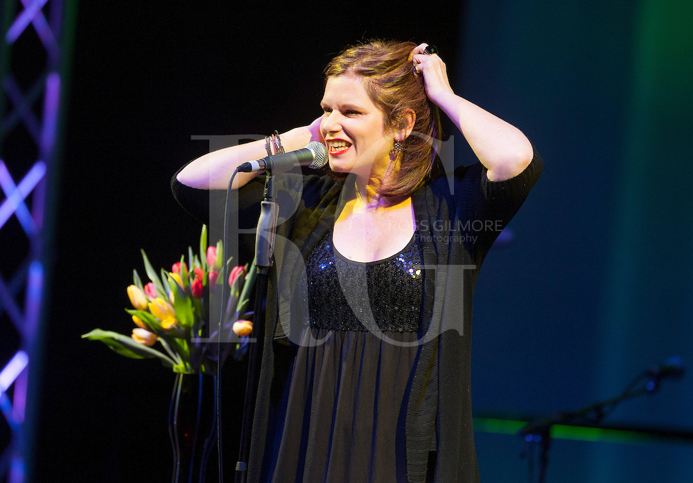 GLASGOW, UNITED KINGDOM - JANUARY 23: Margo Timmins of the Cowboy Junkies perform at The Celtic Connections Festival 2013 at Glasgow Royal Concert Hall on January 23, 2013 in Glasgow, United Kingdom. (Photo by Ross Gilmore)