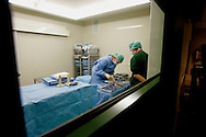 The Hague. Hospital. MCH. Medisch Centrum Haaglanden. Preparing the instruments before an operation..Photo: Gerrit de Heus