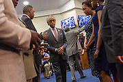 Rev. Al Sharpton following his address to a healing service at Charity Missionary Baptist Church April 12, 2015 in North Charleston, South Carolina. Sharpton spoke following the recent fatal shooting of unarmed motorist Walter Scott police and thanked the Mayor and Police Chief for doing the right thing in charging the officer with murder.