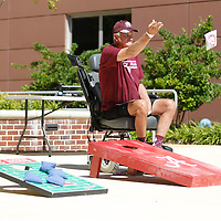 Thomas Wells | Buy at PHOTOS.DJOURNAL.COM<br /> Melvin Steed of Corinth play a game of cornhole during Tuesday's National Rehabilitation Awareness Celebration held at North Mississippi Medical Center's Rehabilitation Institute in Tupelo.