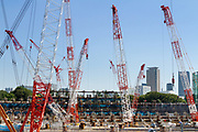Construction underway on the new Olympic Stadium in Gaiemmae, Tokyo, Japan Friday September 29th 2017