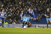 Sheffield Wednesday's Lucas Joao during the Sky Bet Championship match between Brighton and Hove Albion and Sheffield Wednesday at the American Express Community Stadium, Brighton and Hove, England on 8 March 2016. Photo by Phil Duncan.