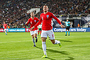 Goal England midfielder Ross Barkley scores a goal and celebrates his second and 0-3 during the UEFA European 2020 Qualifier match between Bulgaria and England at Stadion Vasil Levski, Sofia, Bulgaria on 14 October 2019.