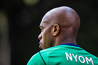 LONDON, ENGLAND - MAY 13:  West Bromwich Albion (2) Allan Nyon during the Premier League match between Crystal Palace and West Bromwich Albion at Selhurst Park on May 13, 2018 in London, England. MB Media