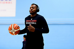 Panos Mayindombe of Bristol Flyers warms up prior to tip off - Photo mandatory by-line: Ryan Hiscott/JMP - 06/12/2019 - BASKETBALL - SGS Wise Arena - Bristol, England - Bristol Flyers v Sheffield Sharks - British Basketball League Championship