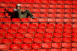 A Barnsley fan looks at his phone before kick off - Mandatory by-line: Matt McNulty/JMP - 15/08/2017 - FOOTBALL - Oakwell Stadium - Barnsley, England - Barnsley v Nottingham Forest - SkyBet Championship