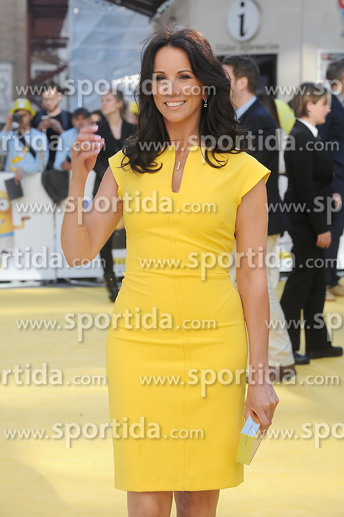 Andrea McLean attends the World Premiere of Minions at Odeon Leicester Square in London, 11th June 2015. EXPA Pictures &copy; 2015, PhotoCredit: EXPA/ Photoshot/ Paul Treadway<br /> <br /> *****ATTENTION - for AUT, SLO, CRO, SRB, BIH, MAZ only*****