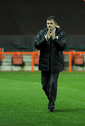 Bristol City manager, Steve Cotterill acknowledges supporters ahead of FA Cup third round replay between Bristol City and Doncaster Rovers at Ashton Gate on January 13, 2015 in Bristol, England. - Photo mandatory by-line: Paul Knight/JMP - Mobile: 07966 386802 - 13/01/2015 - SPORT - Football - Bristol - Ashton Gate Stadium - Bristol City v Doncaster Rovers - FA Cup third round replay