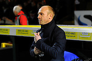 Yeovil Town manager Darren Way during the The FA Cup Third Round Replay match between Yeovil Town and Carlisle United at Huish Park, Yeovil, England on 19 January 2016. Photo by Graham Hunt.