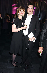 GEORGE OSBORNE MP and his wife FRANCES at the Conservative Party's Black & White Ball held at Old Billingsgate, 16 Lower Thames Street, London EC3 on 8th February 2006.<br />
