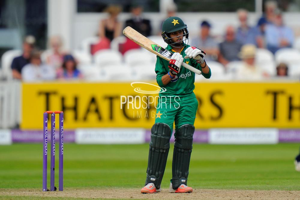 Pakistan Women's Sidra Nawaz during the Royal London ODI match between England Women Cricket and Pakistan Women Cricket at the Cooper Associates County Ground, Taunton, United Kingdom on 27 June 2016. Photo by Graham Hunt.