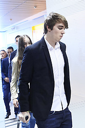 June 14, 2018 - Madrid, Madrid, Spain - Rosa Sanchez Maqueda and sons during the presentation of Julen Lopetegui as new head coach of Real Madrid F.C. at Santiago Bernabeu Stadium on June 14, 2018 in Madrid, Spain (Credit Image: © Jack Abuin via ZUMA Wire)