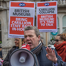 20 Mar 2018 - PCS demonstrate for ex-Carillion staff to be brought in-house at the British Museum.