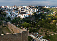 Richard stands on the old wall that surrounds the ancient city of Ronda, in southern Spain.