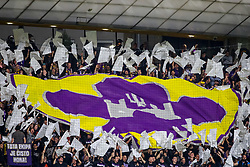 Fans of Maribor with flags during group E football match between NK Maribor and Spartak Moscow in 1st Round of UEFA Champions League, on Septebmer 13, 2017 in Ljudski vrt, Ljubljana, Slovenia. Photo by Morgan Kristan / Sportida