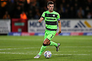 Forest Green Rovers Liam Shephard(2) on the ball during the EFL Sky Bet League 2 match between Cambridge United and Forest Green Rovers at the Cambs Glass Stadium, Cambridge, England on 2 October 2018.