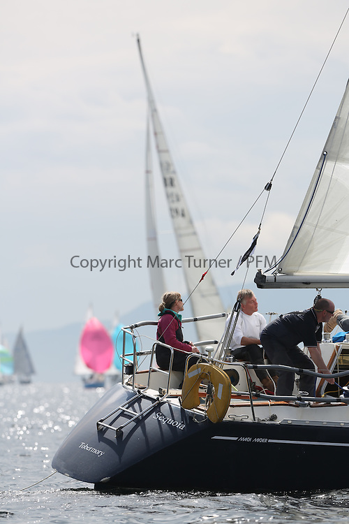 The Silvers Marine Scottish Series 2014, organised by the  Clyde Cruising Club,  celebrates it's 40th anniversary.<br /> GBR4407, Sequoia, Andrew Scott, Western Isles YC, Maxi Mixer<br /> Final day racing on Loch Fyne from 23rd-26th May 2014<br /> <br /> Credit : Marc Turner / PFM