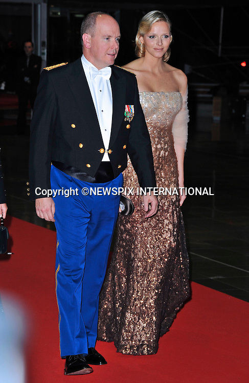 "MONACO NATIONAL DAY 2010 (Fête Nationale Monégasque 2010).Prince Albert accompanied by his fiancée Charlene Wittstock and sister Caroline, Princess of Hanover attend the Opera at the Grimaldi Forum as past of Monaco's National Day celebrations. Monaco_19/11/2010 .Mandatory Photo Credit: ©Dias/Newspix International..**ALL FEES PAYABLE TO: ""NEWSPIX INTERNATIONAL""**..PHOTO CREDIT MANDATORY!!: NEWSPIX INTERNATIONAL(Failure to credit will incur a surcharge of 100% of reproduction fees)..IMMEDIATE CONFIRMATION OF USAGE REQUIRED:.Newspix International, 31 Chinnery Hill, Bishop's Stortford, ENGLAND CM23 3PS.Tel:+441279 324672  ; Fax: +441279656877.Mobile:  0777568 1153.e-mail: info@newspixinternational.co.uk"