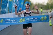 Morgan Burrows finishes first in a time of 20:58 at the Corporate Challenge on the campus of RIT on Tuesday, May 24, 2016.