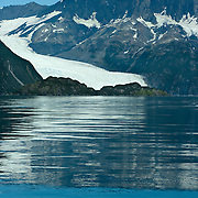 Holgate Glacier meets Aialik Bay in Kenai Fjords National Park Alaska