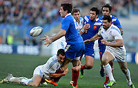 Rome, Italy -Fritz and Sgarbi in contrast during Italia vs Francia race of the championship rugby SIX NATIONS played at the Olimpico in Rome.(Credit Image: © Gilberto Carbonari/).