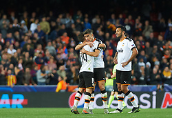 November 5, 2019, Valencia, Valencia, Spain: Valencia players celebrates during the during the UEFA Champions League group H match between Valencia CF and Losc Lille at Estadio de Mestalla on November 5, 2019 in Valencia, Spain (Credit Image: © AFP7 via ZUMA Wire)