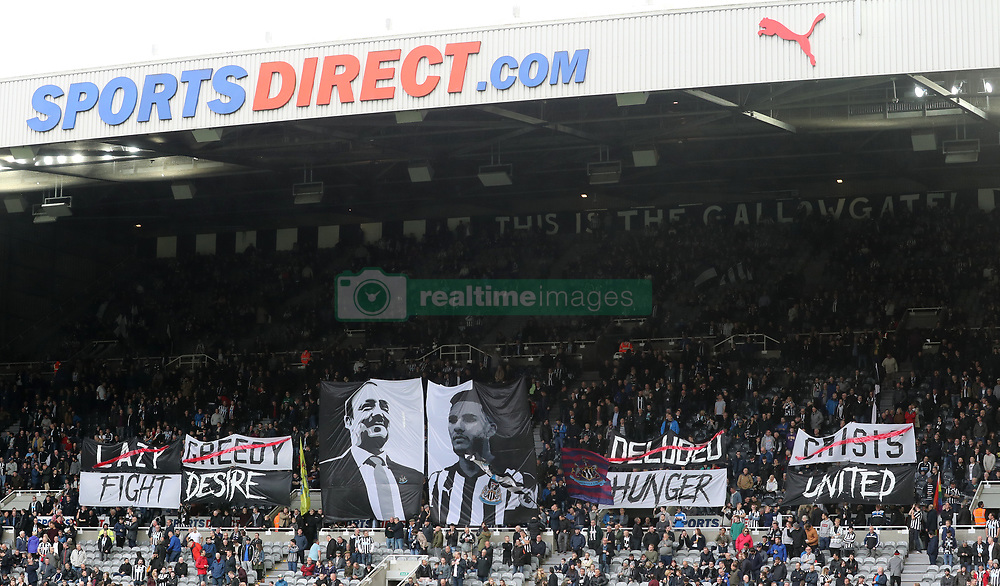 Newcastle United fans in the stands during the Premier League match at St James' Park, Newcastle.