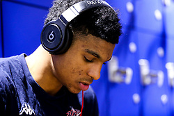 Justin Gray of Bristol Flyers in the changing room - Photo mandatory by-line: Robbie Stephenson/JMP - 29/03/2019 - BASKETBALL - English Institute of Sport - Sheffield, England - Sheffield Sharks v Bristol Flyers - British Basketball League Championship