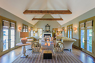 Home designed by architect Daniel Romualdez, interior design by Muriel Brandolini, Deerfield Rd, Sag Harbor, NY