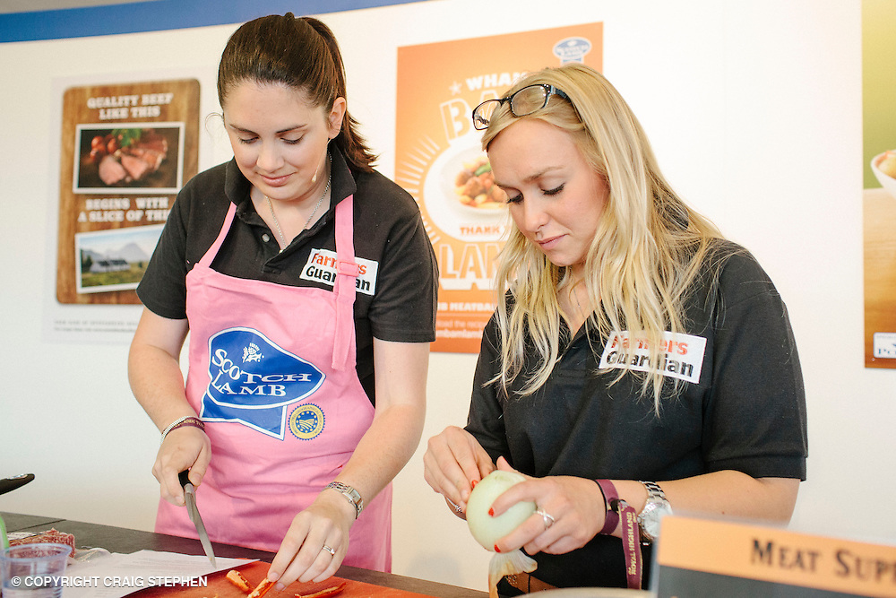 Royal Highland Show 2014. Scottish FArmer & Farmers Guardian cook-off at QMS. PAYMENT TO CRAIG STEPHEN 07905 483532