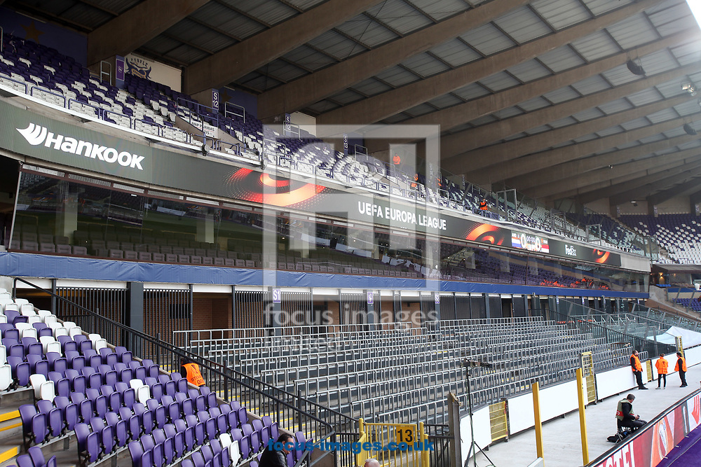 General view of the stadium before the UEFA Europa League match at Constant Vanden Stock Stadium, Anderlecht<br /> Picture by Paul Chesterton/Focus Images Ltd +44 7904 640267<br /> 13/04/2017