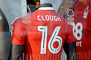 #16 shirt of new signing Zach Clough in the Megastore making his debut during the EFL Sky Bet Championship match between Nottingham Forest and Aston Villa at the City Ground, Nottingham, England on 4 February 2017. Photo by Jon Hobley.