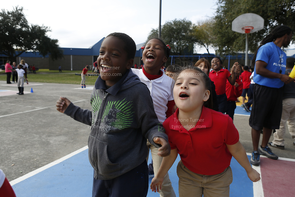 Playworks<br /> <br /> <br /> Cummings Elementary School<br /> 10455 S Kirkwood Rd, Houston, TX 77099<br /> <br /> 2nd Grade recess<br /> All have RWJF release