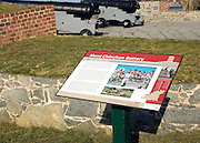 Mont Chinchon gun battery, Guernsey, Channel Islands artillery position dating from the Napoleonic war.