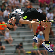 JONAS - 13USA, Des Moines, Ia.- Dustin Jonas finished second in the high jump.   Photo by David Peterson
