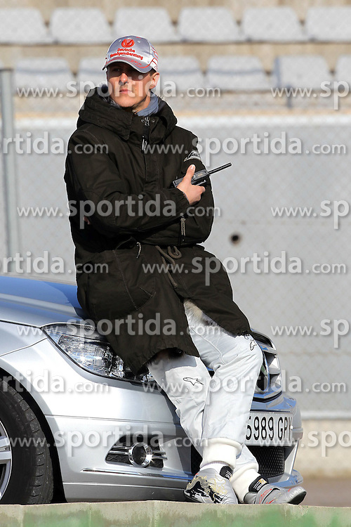 02.02.2011, Street Circuit, Jerez, ESP, Formel 1 Test 1 Valencia 2011,  im Bild Michael Schumacher (GER), Mercedes GP .EXPA Pictures © 2011, PhotoCredit: EXPA/ nph/  Poleposition .for Austria Media usage only!