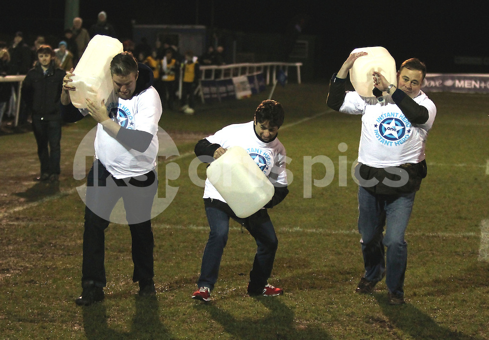 Half time entertainment during the Green King IPA Championship match between London Scottish &amp; Cornish Pirates at Richmond, Greater London on 16th January 2015<br /> <br /> Photo: Ken Sparks | UK Sports Pics Ltd<br /> London Scottish v Cornish Pirates, Green King IPA Championship, 16h January 2015<br /> <br /> &copy; UK Sports Pics Ltd. FA Accredited. Football League Licence No:  FL14/15/P5700.Football Conference Licence No: PCONF 051/14 Tel +44(0)7968 045353. email ken@uksportspics.co.uk, 7 Leslie Park Road, East Croydon, Surrey CR0 6TN. Credit UK Sports Pics Ltd