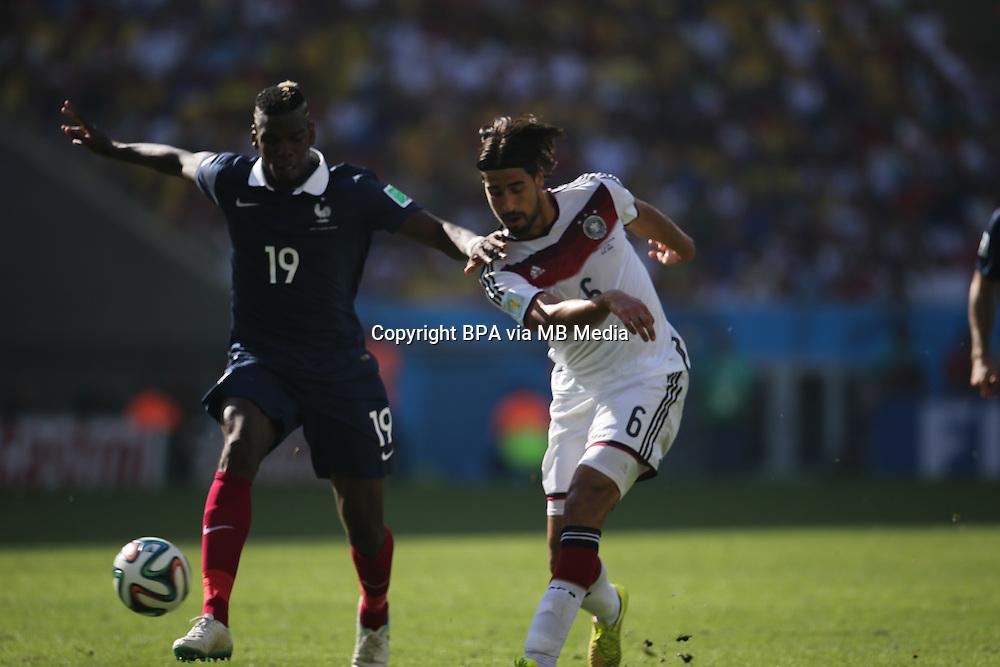 Sami Khedira. France v Germany, quarter-final. FIFA World Cup Brazil 2014. 4 July 2014