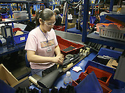Arkansas Democrat-Gazette/BOB COLEMAN<br /> Dilma Merlos assembles a Powerline 901 rifle at the Daisy Air gun plant in Rogers. Daisy will celebrate its 50th anniversary of moving to Rogers with a homecoming celebration. 6/17/08
