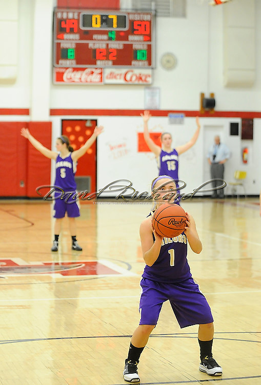 Vermilion at Firelands girls high school varsity basketball on February 16, 2011.