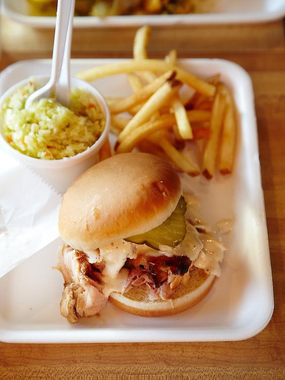 BBQ Chicken with White Sauce, Saw's Soul Kitchen.  Birmingham, Alabama