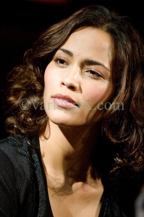 02 Feb, 2006. New Orleans, Louisiana.<br /> The cast and directors of the movie Deja Vu give a press conference at the House of Blues in New Orleans, Louisiana. Actress Paula Patton.<br /> Photo; Charlie Varley/varleypix.com