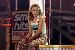 Kylie Minogue at Smash Hits poll winners party, London 2000. .Photo by Andrew Parsons/i-Images.