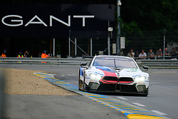 June 17, 2018 - Le Mans, Sarthe, France - BMW Team Mtek BMW M8 GTE Driver MARTIN TOMCZYK(GER) in action during the 86th edition of the 24 hours of Le Mans 2nd round of the FIA World Endurance Championship at the Sarthe circuit at Le Mans - France (Credit Image: © Pierre Stevenin via ZUMA Wire)