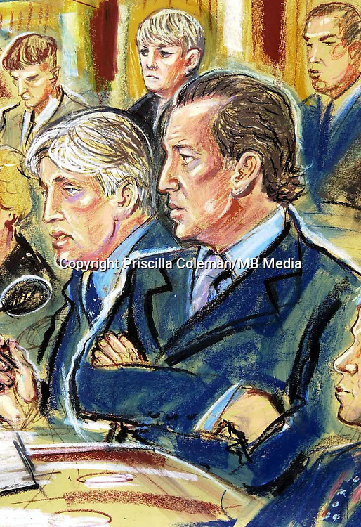 COPYRIGHT PRISCILLA COLEMAN ITN ARTIST 12.09.02..PIC SHOWS: MICHAEL BARRYMORE(RIGHT) WITH MICHAEL MANSFIELD QC AT EPPING FOREST CORONER'S COURT TODAY DURING THE INQUEST OF STUART LUBBOCK.