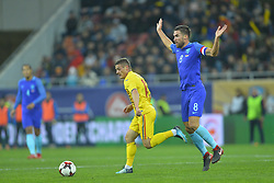 November 14, 2017 - Bucharest, Romania - Gabriel Torje (Rom) v Kevin Strootman (Ned) during International Friendly match between Romania and Netherlands at National Arena Stadium in Bucharest, Romania, on 14 november 2017. (Credit Image: © Alex Nicodim/NurPhoto via ZUMA Press)