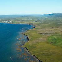 Kambsnes eyðibýli séð til austurs. Hvammsfjörður, Búðardalur og Laxárdalur í baksýn. Dalabyggð áður Laxárdalshreppur / Kambsnes viewing east. Hvammsfjordur, Budardalur and Laxardalur in background. Dalabyggd former Laxardalshreppur.