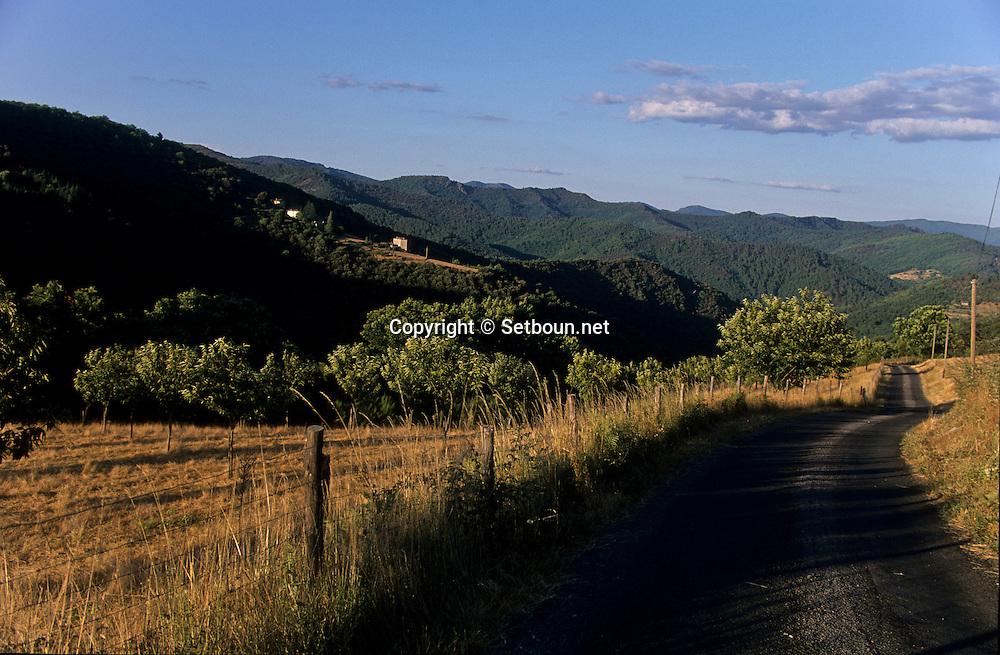 corniche des Cevennes. landscape France