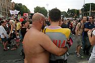 ROMA   GAY PRIDE 2007.La Sfilata del Gay pride, orgoglio omossessuale per le vie della città.